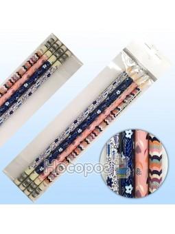 Набор простых карандашей с ластиком Stripes ANGEL NOTES AN12011-N