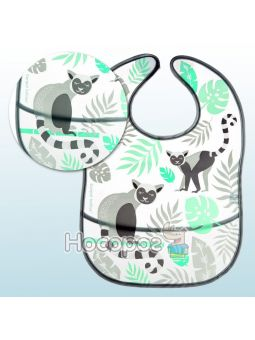 Слюнявчик с карманом Canpol babies серый Jungle