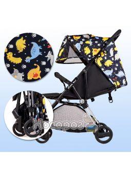 Дитяча прогулянкова коляска Ninos Mini Blue Dino NM2020BD
