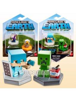 Набор из 2 коллекционных мини-фигурок Minecraft в ассортименте GKT41