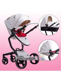 Детская универсальная коляска 2 в 1 Ninos А88 white elegance белая