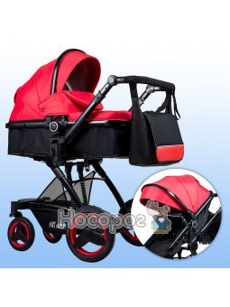 Універсальна коляска трансформер 2в1 Ninos Bono Red N2019BONOR