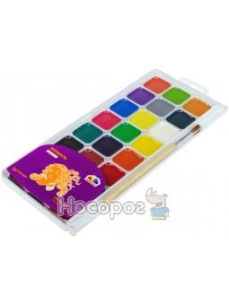 """Краски Акварель Гамма """"Творчество"""" 24 цвета с кисточкой 400105"""