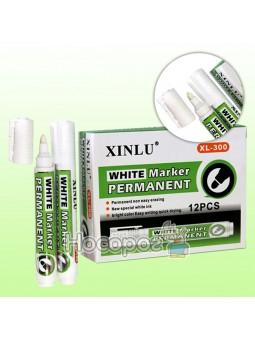 Маркер перманентный белый XL-300, Н21240-3, 055695