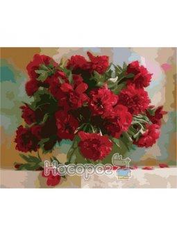 Картина по номерам Красные пионы КНО1133