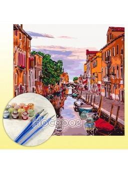 Картина по номерам Венецианский вечер 40х40см КНО3571