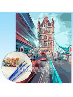 Картина по номерам Динамичный Лондон 40х50см КНО3570