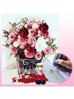 Набор с алмазной мозаикой Нежный букет 40х50 см