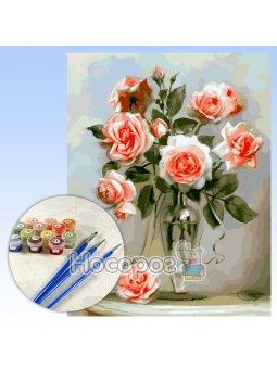 Набор для росписи по номерам Хрупкие розы 40х50см КНО2034