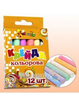 Мел цветной круглый 12 штук 8051-12 Little Artist 825510