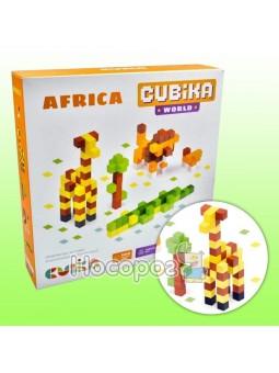 Деревянный конструктор Cubika World Африка 15306