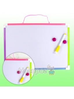 Доска детская односторонняя магнитная + маркер, магниты 920273