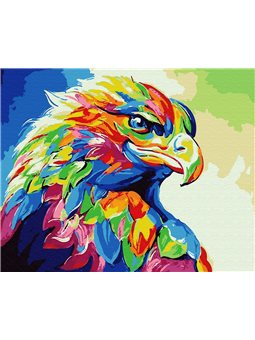 Картина по номерам Brushme Радужный орёл [GX30901]