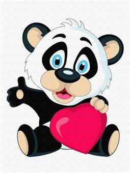 Картина по номерам Brushme Панда с серцем [MEX6360]