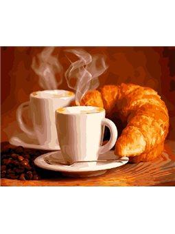 Картина по номерам Brushme Кофе с круасаном [GX5740]