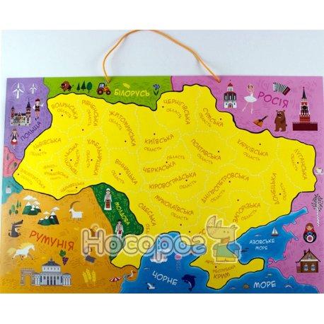 Фото Карта України з пазлами Зірка
