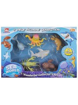 Набор игровых фигурок Dingua Жители океана, 6 шт (в коробке)