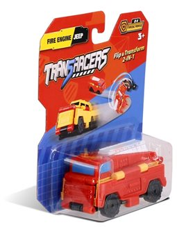 Машинка 2-в-1 Пожарная машина & Джип TransRacers