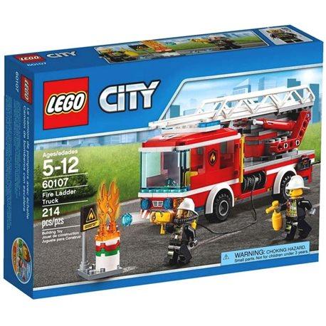 "Фото Конструктор LEGO ""Пожарная машина с лестницей"" 60107"