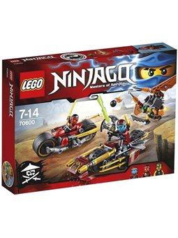 "Конструктор LEGO Ninjago ""Гонитва на ніндзяциклах"" 70600"