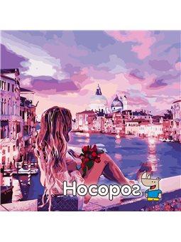 """Картина по номерам """"Вечер в Венеции"""" 40х40см [AS0810]"""