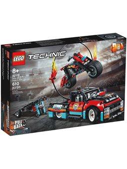 """Конструктор LEGO® """"каскадерская грузовик и мотоцикл"""" 42106 Technic"""
