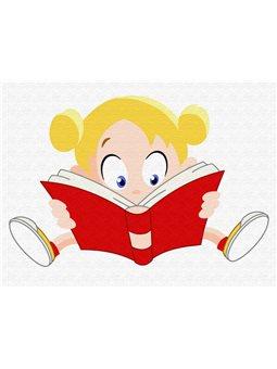 """Картина по номерам """"Девочка с книгой"""" [MEX6357]"""