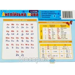 "Картонка-подсказка - Азбука английский язык 1-2 класс ""Зірка"" (укр. / англ.)"