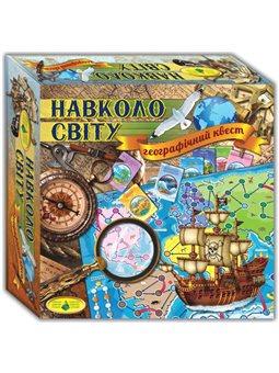 Игра Вокруг света, географическая учебная