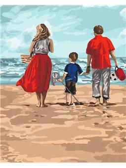 Картины по номерам - Семейный отдых (КНО4679)