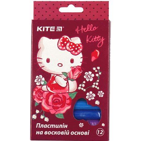 Фото Пластилин восковой Kite Hello Kitty HK19-086, 12 цветов, 200 г