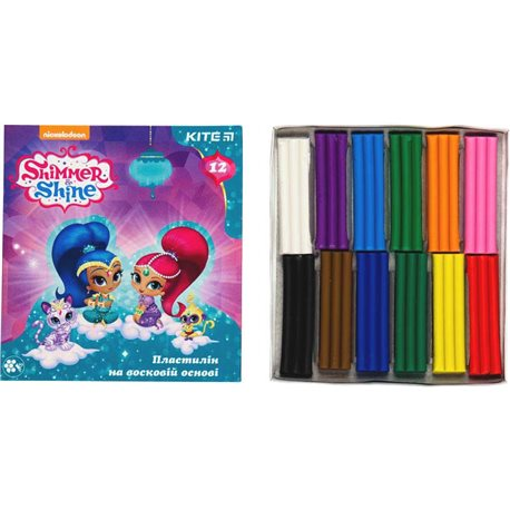 Фото Пластилин восковой, 12 цветов, Shimmer & Shine SH18-1086
