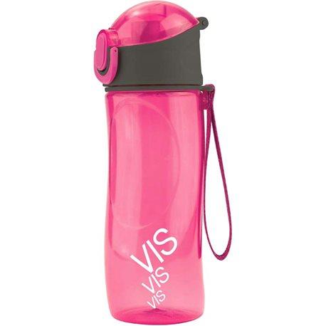 Фото Бутылочка для воды Kite Время и Стекло VIS19-400-02, 530 мл, розовая