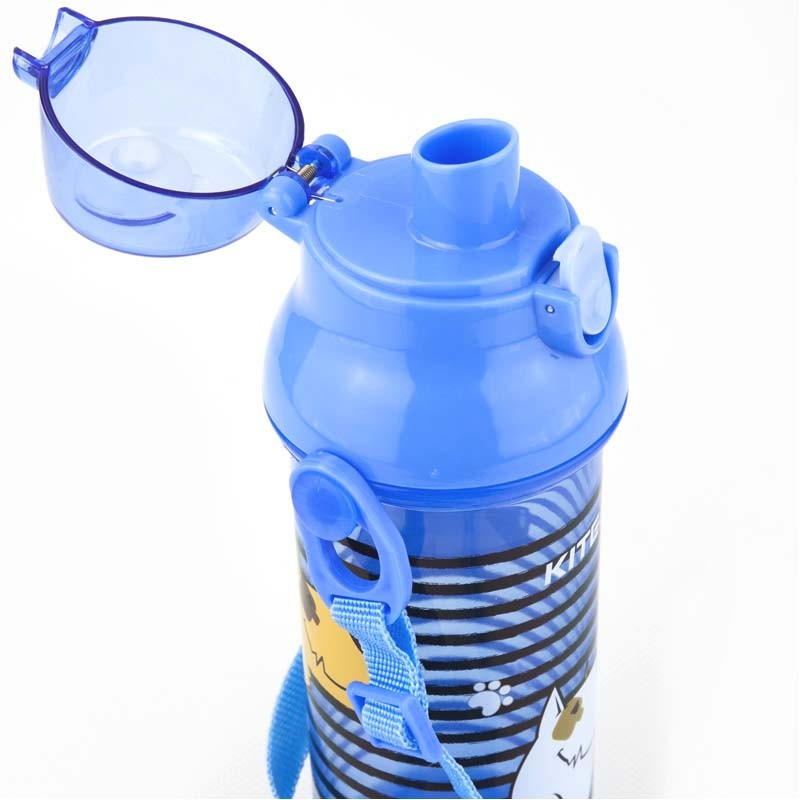 Фото Бутылочка для воды Kite K18-403-04, 470 мл, голубая