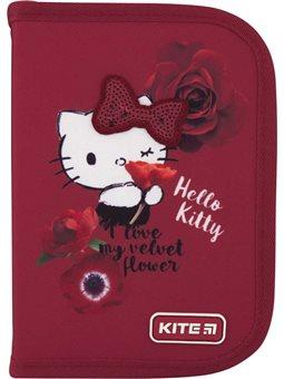 Пенал без наполнения Kite Education Hello Kitty HK20-621-1, 1 отделение, 1 отворот