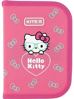 Пенал без наполнения Kite Education Hello Kitty HK20-622, 1 отделение, 2 отворота