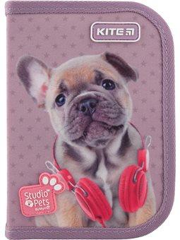 Пенал без наполнения Kite Education Studio Pets SP20-621, 1 отделение, 1 отворот