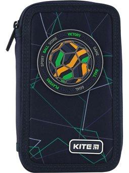 Пенал без наполнения Kite Education Football K20-623-2, 2 отделения