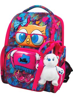 Ранец школьный DeLune 11-025 + мешок + мишка + ленточка