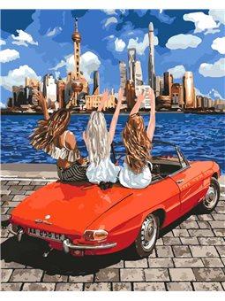 Картины по номерам - Девочки-подружки (КНО4712)