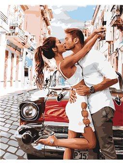 Картины по номерам - Страстный поцелуй (КНО4718)