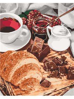 Картины по номерам - Французский завтрак (КНО5573)