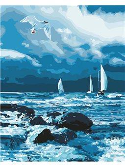 Картина по номерам - Бурное море (КНО2747)