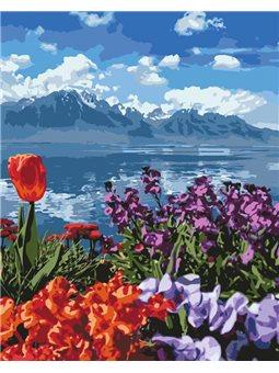 Картины по номерам - Цветочный рай (КНО2278)