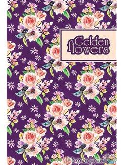 "Блокнот TM Profiplan ""Golden Flowers"" purple, A6"