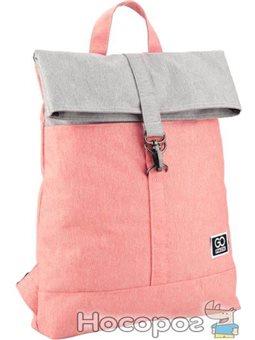 Рюкзак для города GoPack Сity для девочек 350 г 37 х 35 х 9 см 11 л Серо-розовый (GO20-155S-3)