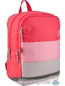 Рюкзак для города GoPack Сity для девочек 290 г 38.5x28x15 20 л Розовый (GO20-158M-2)