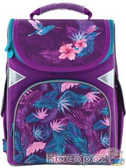 Школьный рюкзак (ранец) с ортопедической спинкой в школу фиолетовый для девочки GoPack Education Colibri для 1-4 класса (GO20-50