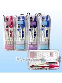 Циркуль в пластиковом пенале и грифели Х2В-5003 721543