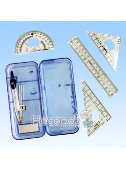 Готовальный набор в пластиковом футляре 7 предметов 1006А 727552